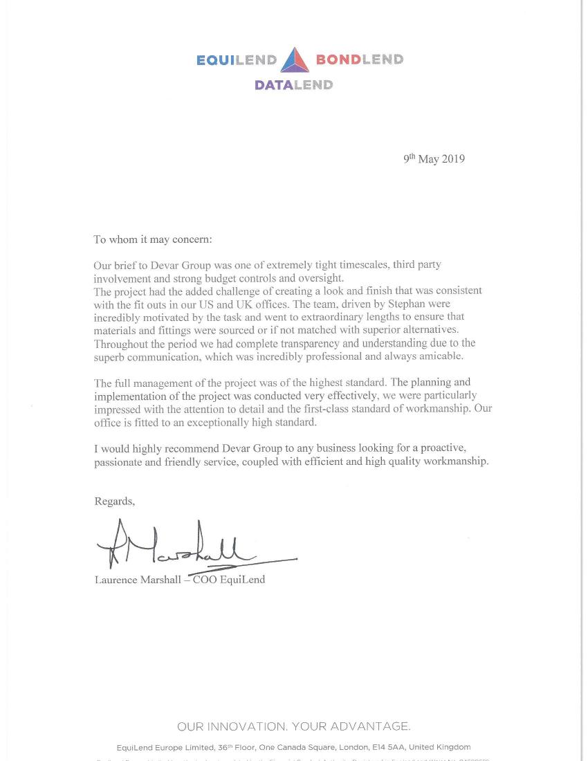 Devar Reference Letter Equilend