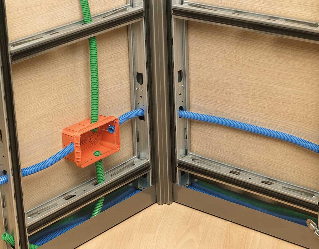 Devar Partition Systems Cabling