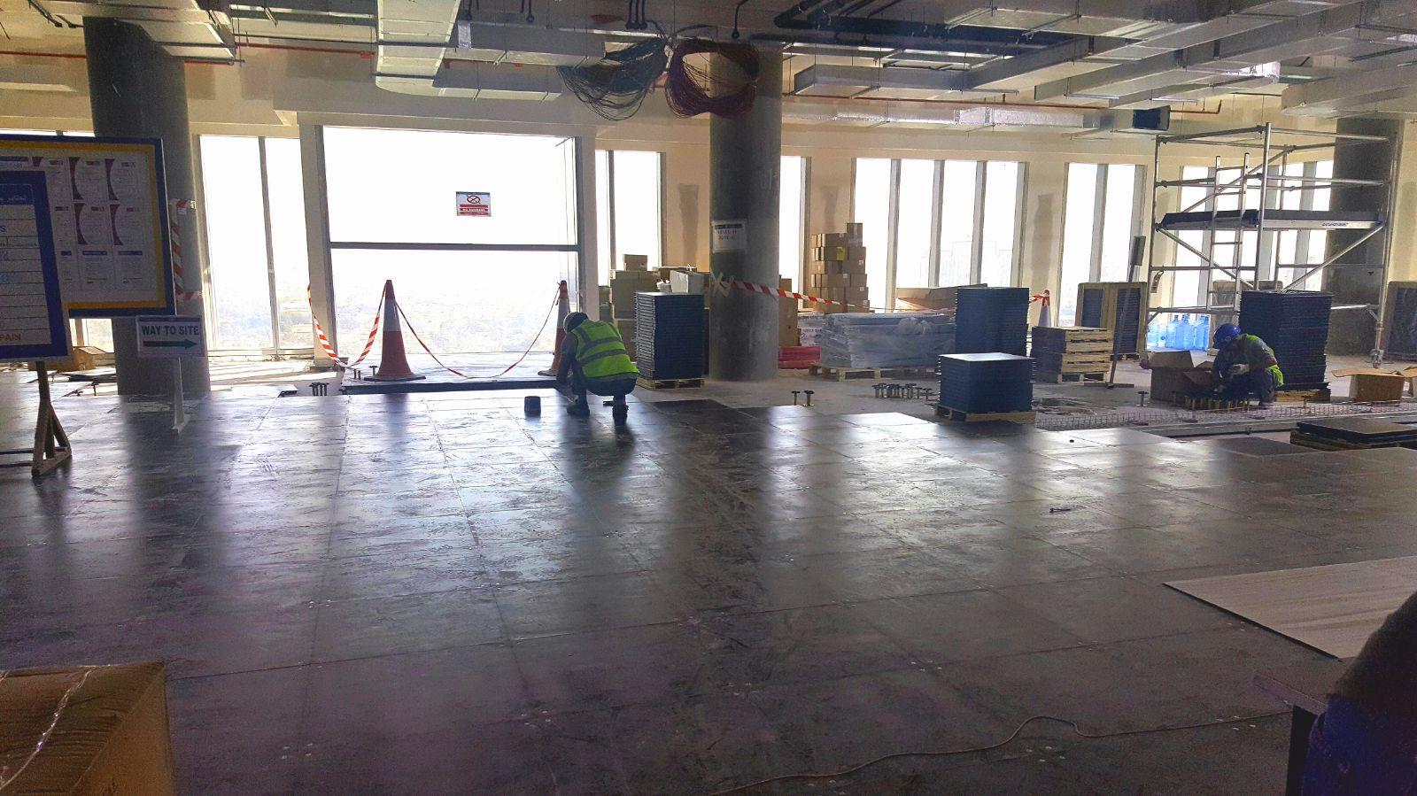 Marriott Office Dubai Devar Raised Access Floor Installation 6