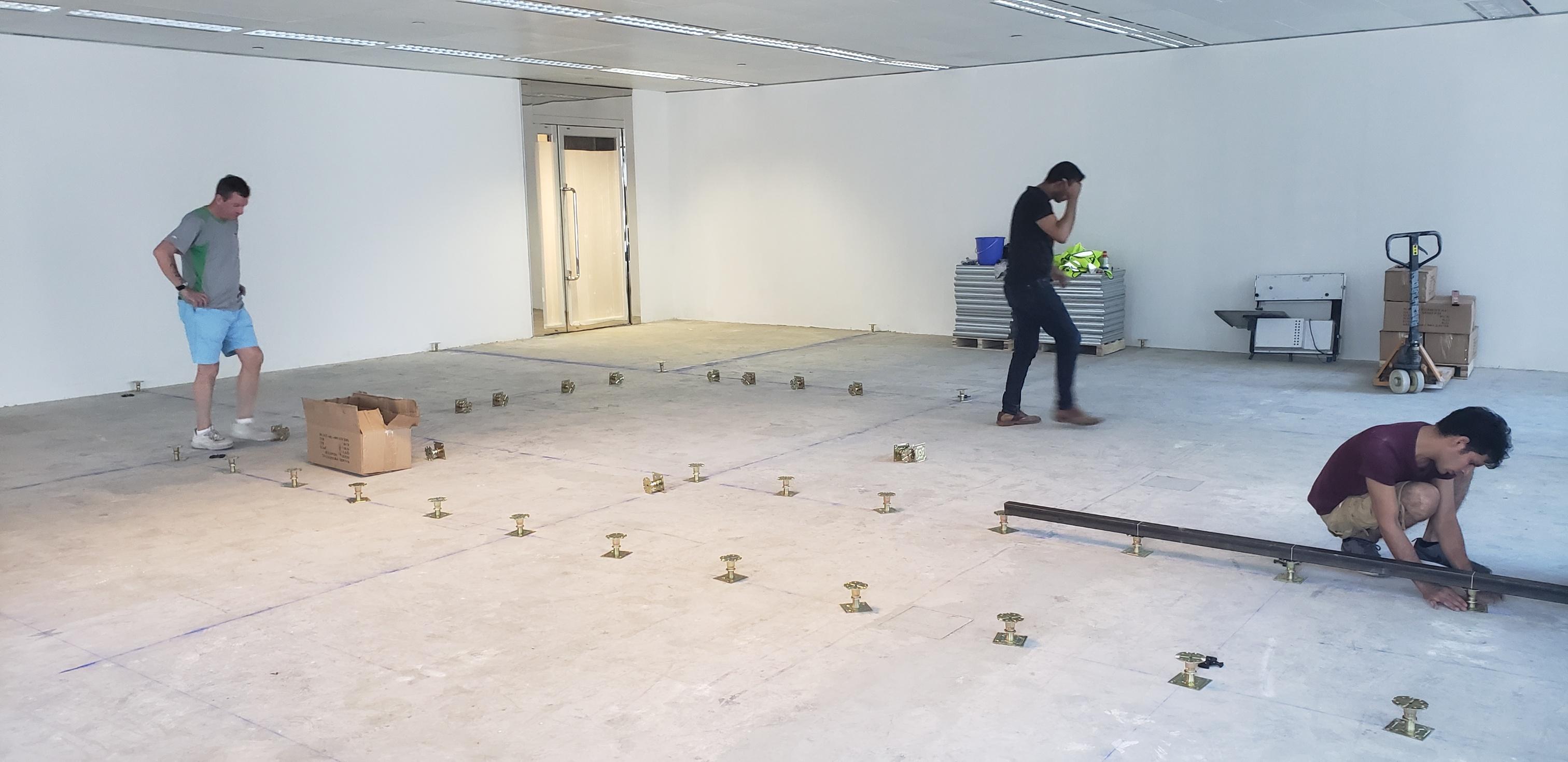 Raised Access Floor Installation Devar For Equilend 1
