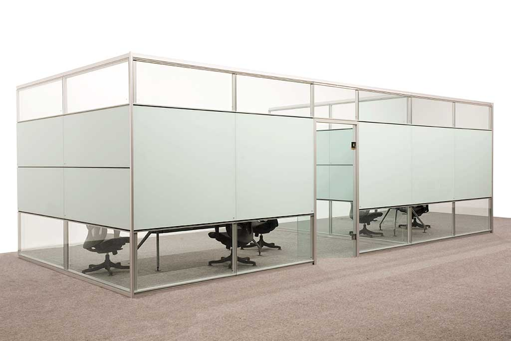 Office Partitions Double Glass Type B